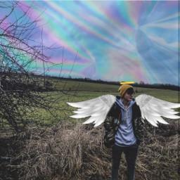 freetoedit angel wings holo