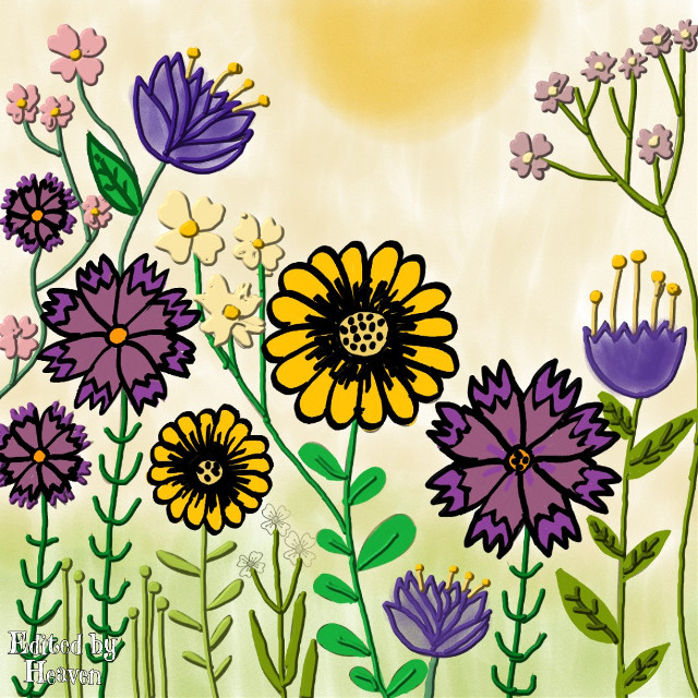Flowers #flowers #flowerslovers #flores #flowerbackground #drawingtools #colorful