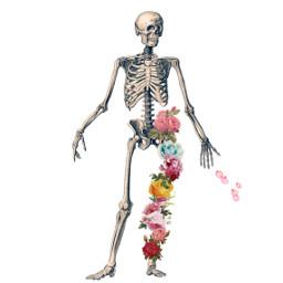 freetoedit skeleton floral