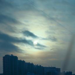 freetoedit sky sunset mood plane