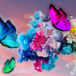 freetoedit butterfly smoke