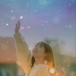 tumblr girl sunrise happyday galaxysticker