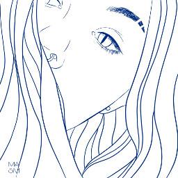 freetoedit otlines girl blue