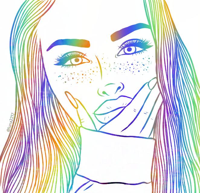#freetoedit  #rainbowgirl