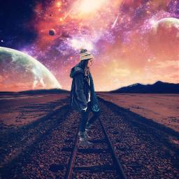 freetoedit space railway planet universe