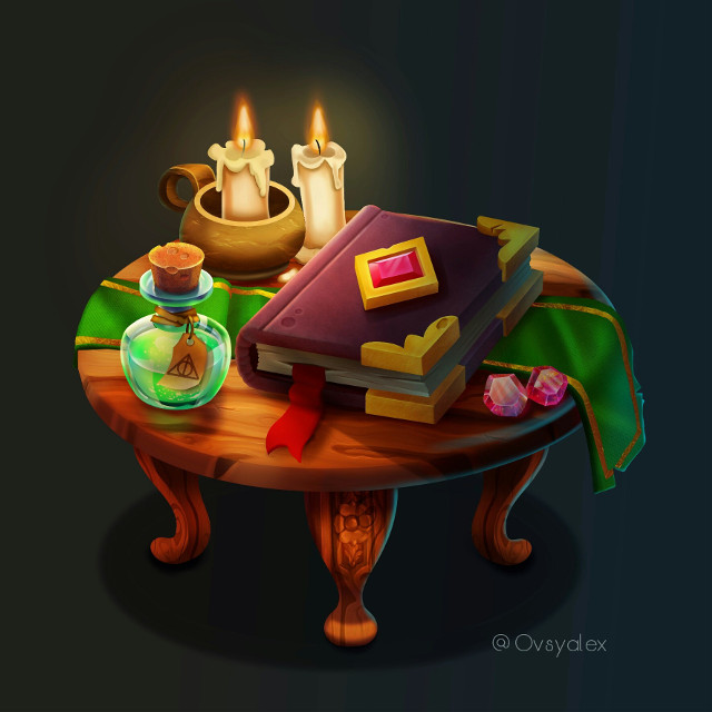 Witch's table  #art
