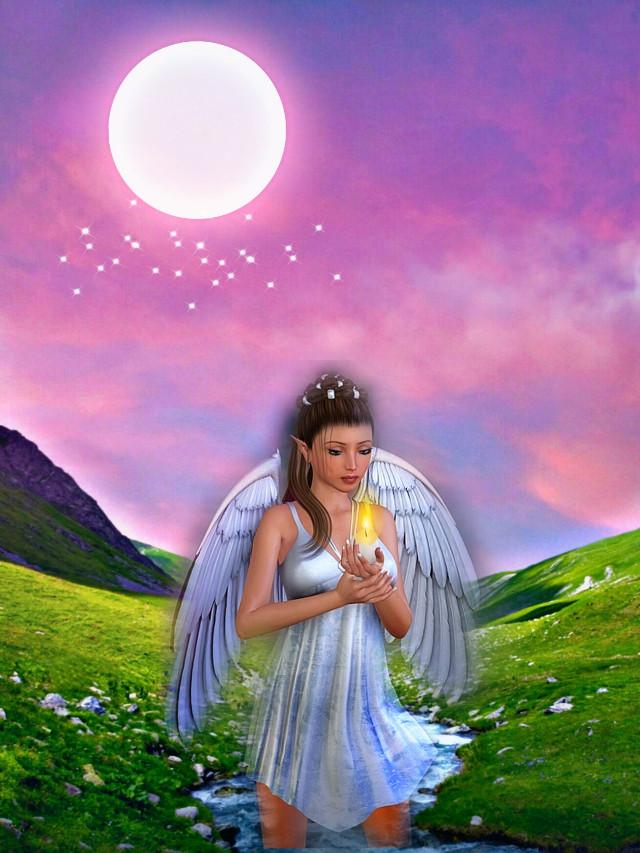 #freetoedit #fantasyart #fantasybackground #angel #fairy #woman #beautiful #myedit #madewithpicsart
