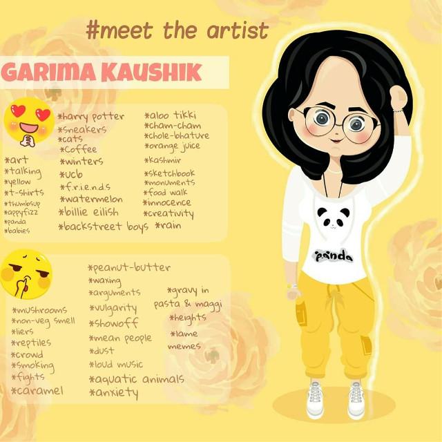 Meet The Artist  #tolo2cute #cute #kawaii #caricature #cartoon #meettheartist #art #chibi #yellow #digitalart #digitaldrawing #girl
