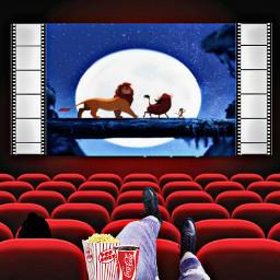 freetoedit lion hakunamatata cinema movie ircpopcorn