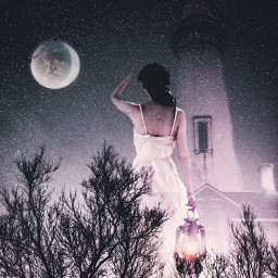 freetoedit myedit girl moon dramaeffect