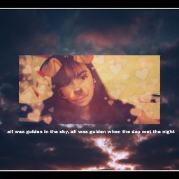 whenthesungoesdown sky sunrise whenthedaymetthenight freetoedit