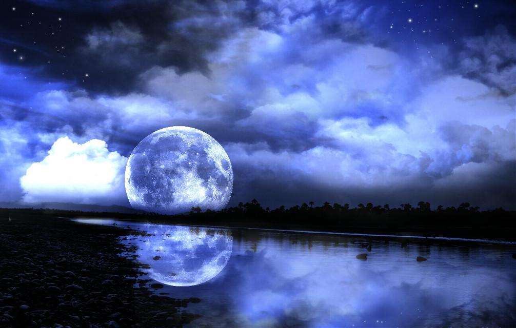 Good night #freetoedit #moon #supermoon #picsartedit #myart #night #doubleexposure