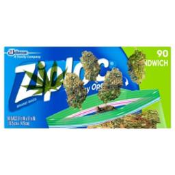freetoedit weed bud stoner ziplock