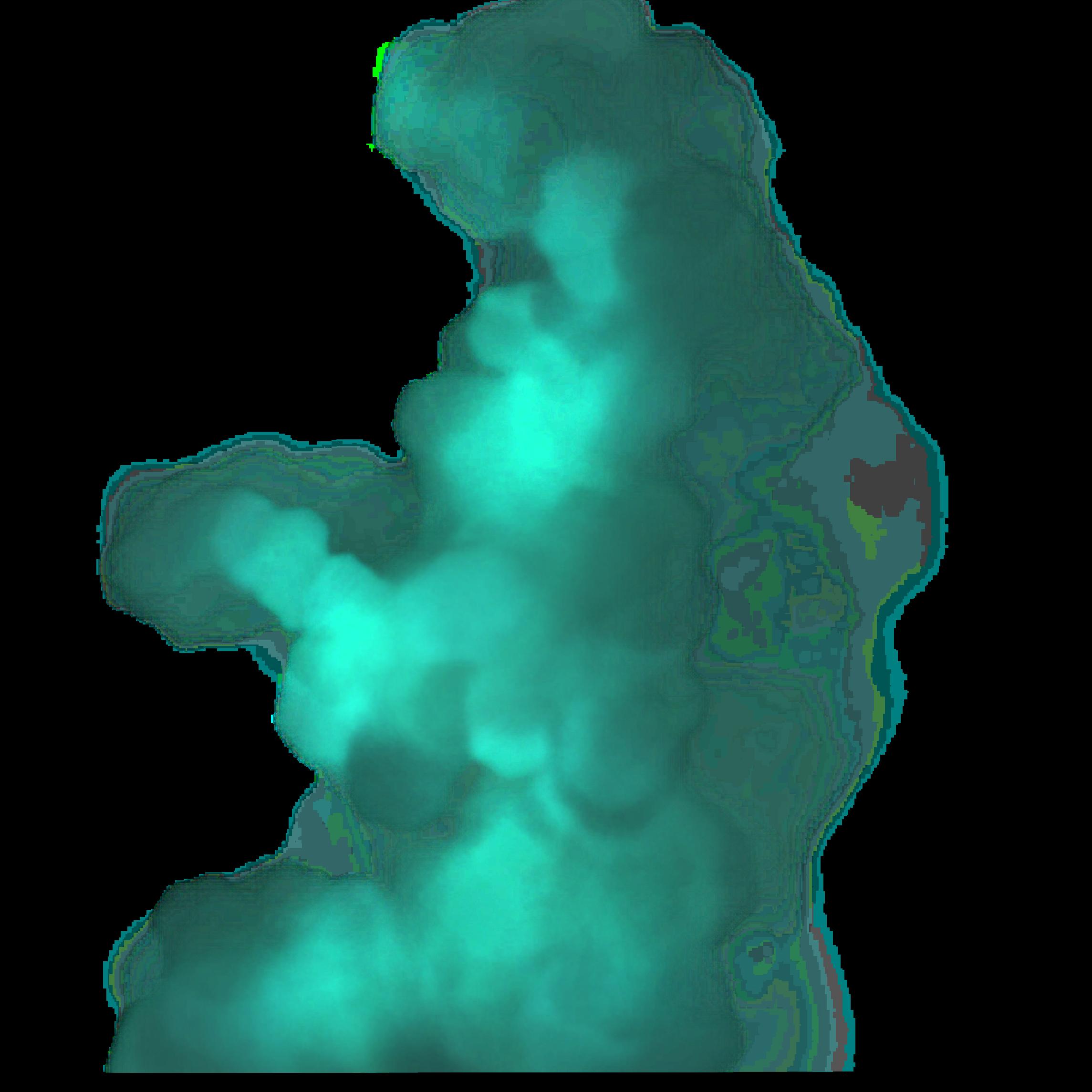 ftestickers effect overlay smoke fog green...