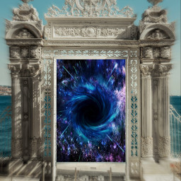 freetoedit door galaxy hole sky