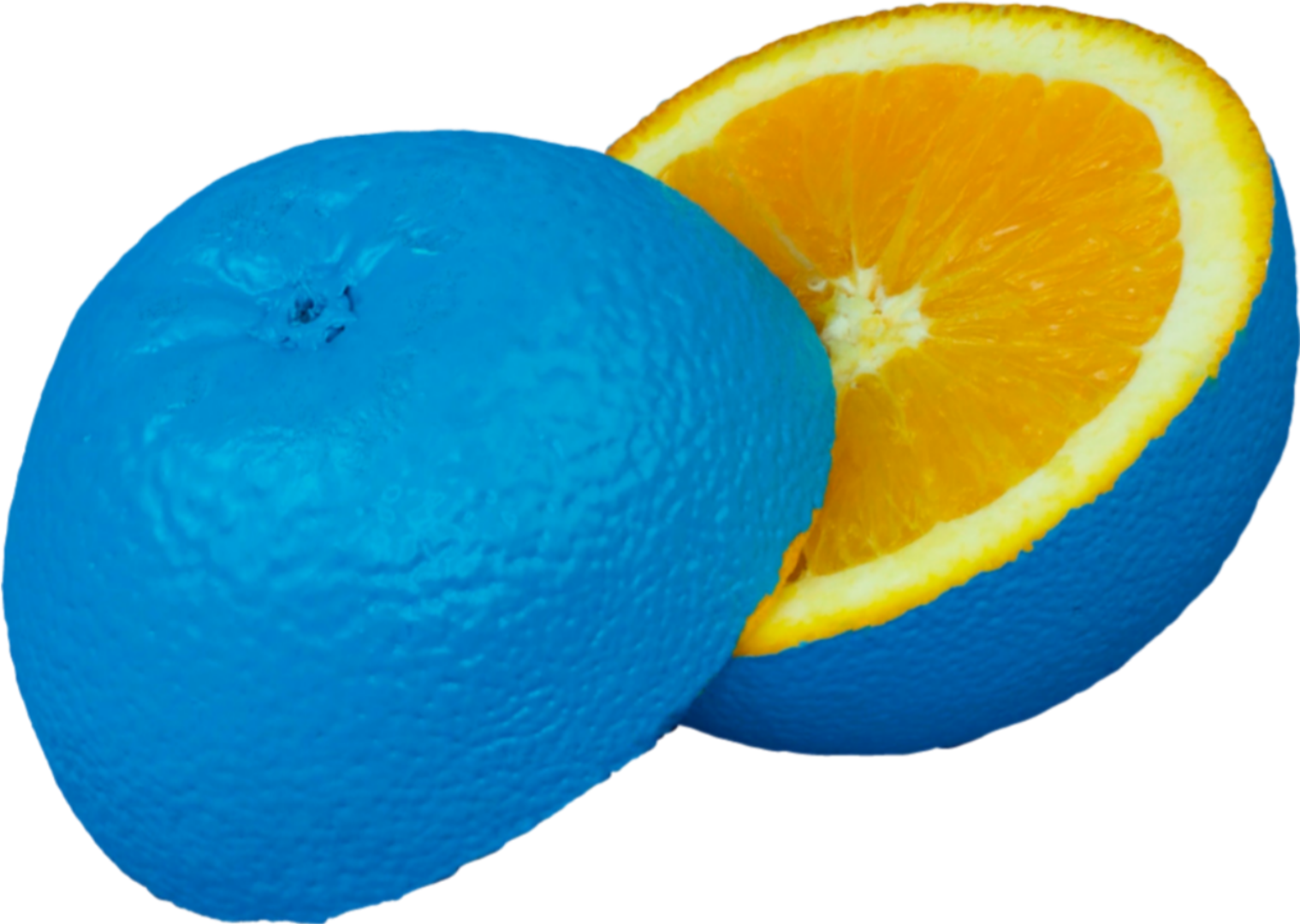 blue orange paint fruit contemporaryart blueorange...
