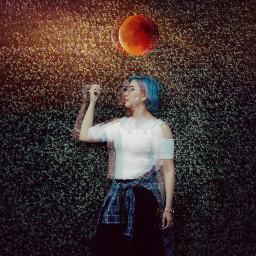 freetoedit bloodmoon portrait remixed surealism
