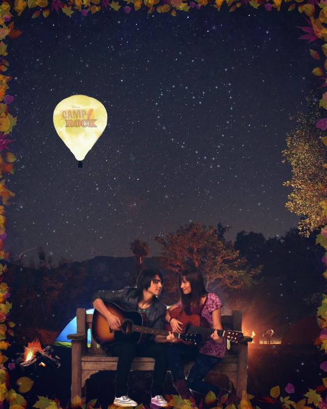 #freetoedit #camprock #mitchie #shane #demilovato #joejonas #camping #guitar #stars #love #remixed #disney #disneychannel