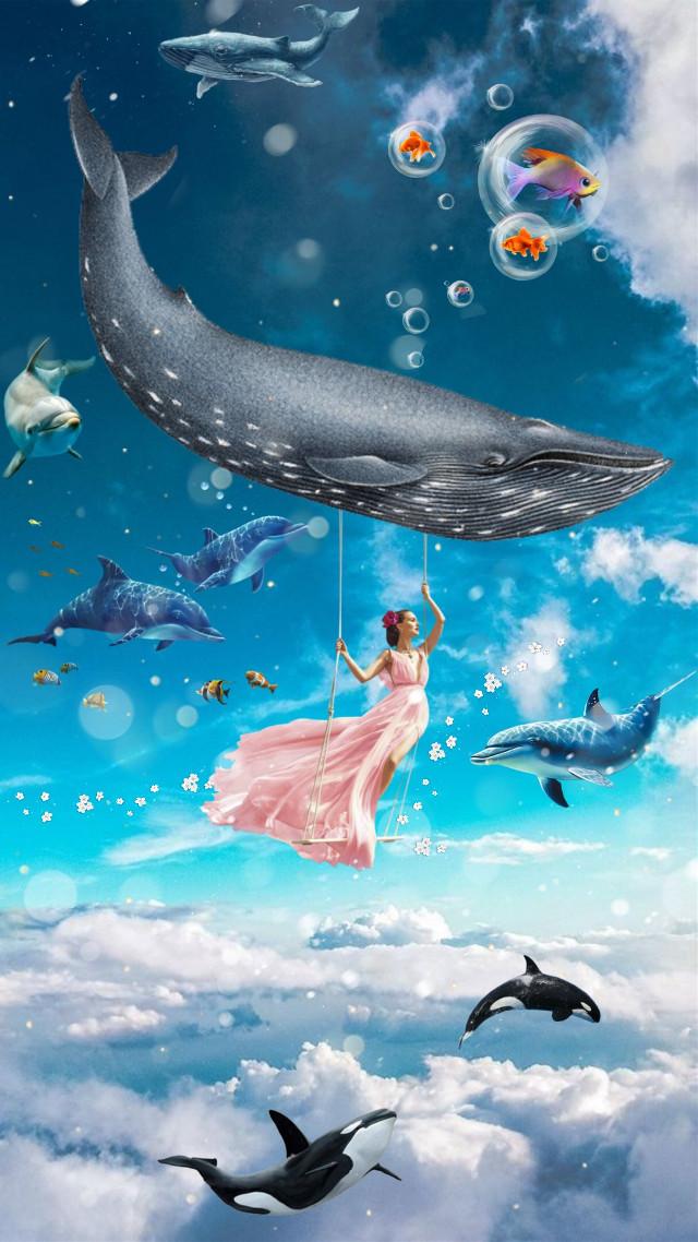 #freetoedit #manipulation #underwater #sky