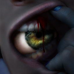 scary eye horror photomanipulation darkart