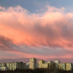 freetoedit sunrise sky clouds warsaw pccolorsofthecity