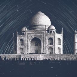 india indianart tajmahal taj_mahal blackandwhite monotone monochrome unsplash remix remixit wattpadcover freetoedit adamjeddy