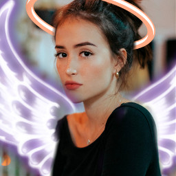 freetoedit angelwings angelcrown picsart