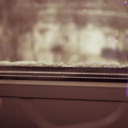 freetoedit window snow bokeh lights