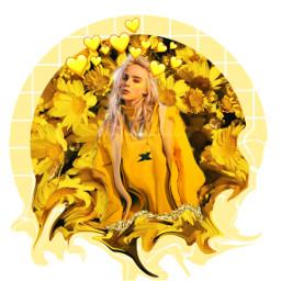 edit billieeilish yellow picture poland freetoedit
