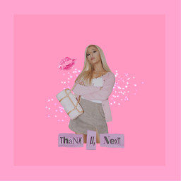 freetoedit thankyounext arianagrande pink