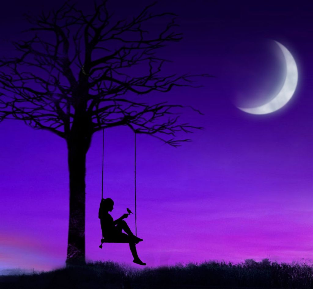 Freetoedit Sky Moon Girl Alone Alonegirl Tumblr Beautif-7045