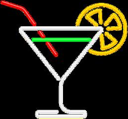 ftestickers cocktail martini neon luminous