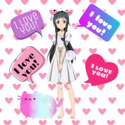 yui sao swordartonline iloveyou anime freetoedit