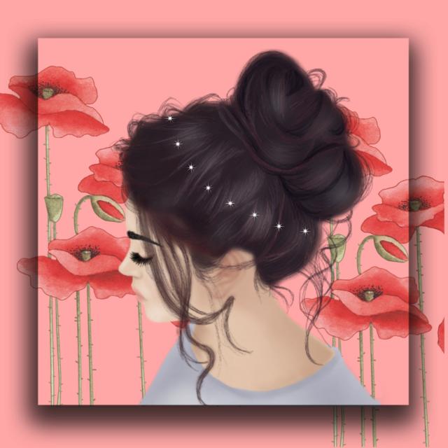 #freetoedit #girl #flower #hairstyle #hair