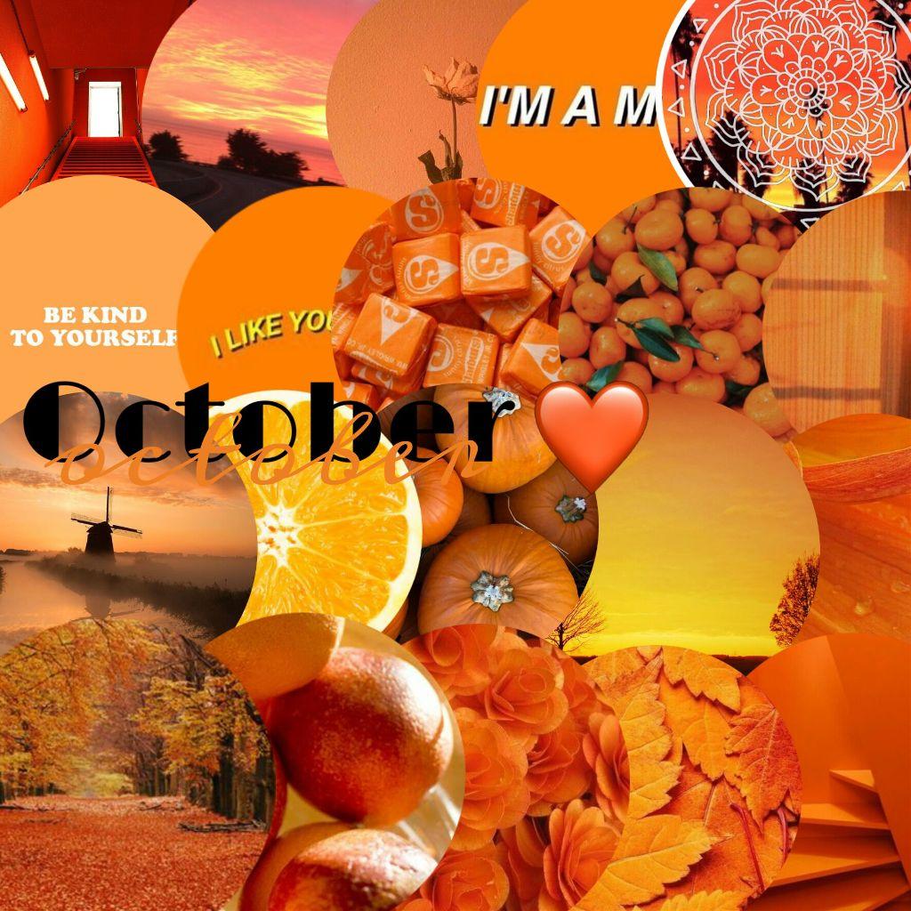 October October Orange Aesthetic Tumblr Wal