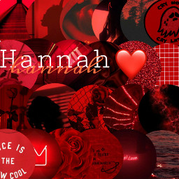 Hannah Names Name Red Aesthetic Freetoedit