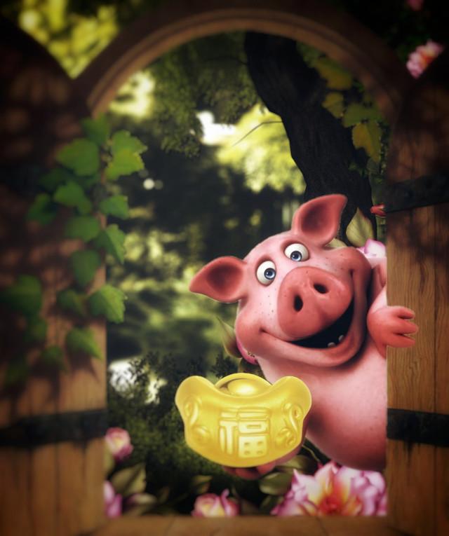 #freetoedit #trees #cute #door #nature #piggy #yearofthepig #happynewyear2019