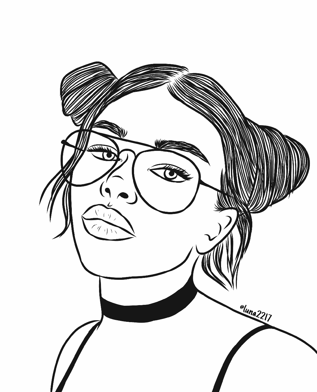 Siins tumblr coloring pages ~ freetoedit drawing girl outlines outlinedrawing tumblr...