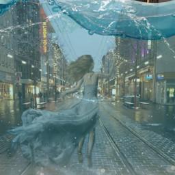 freetoedit underwater citylife city citygirl