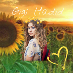 freetoedit gigihadid sunflower yellow youtuber