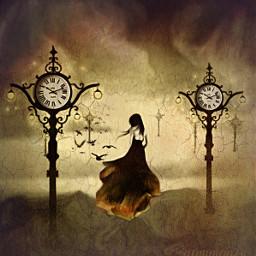freetoedit clock time dress ircpinkrose