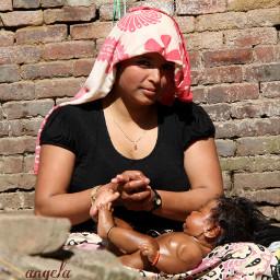 mum baby massage myphotography nepal pcloveyou