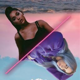 freetoedit arianagrande billieeilish girl remiks
