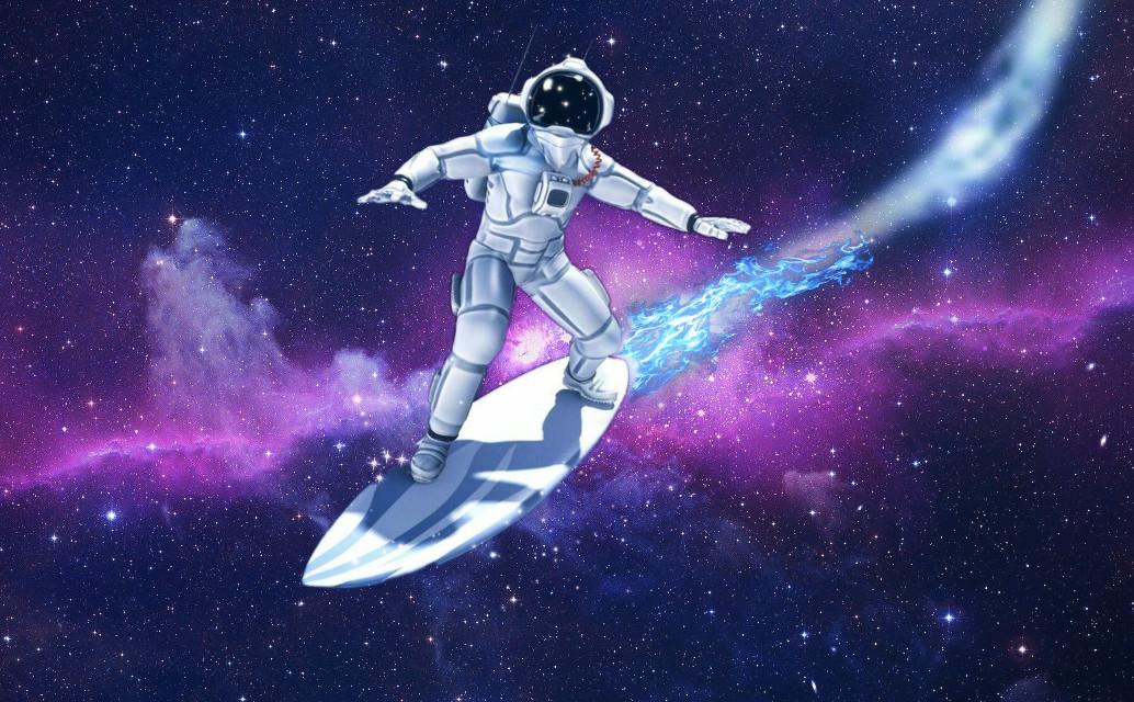 Surf's up #galaxy #astronaut #freetoedit