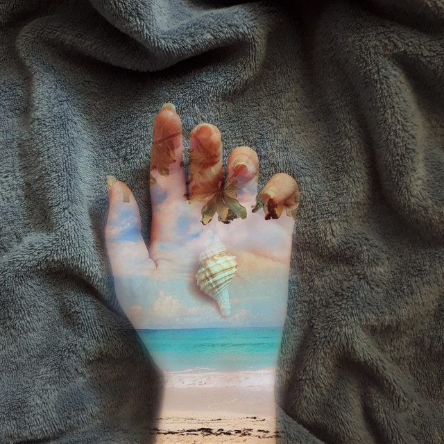 a beach in the hand  #freetoedit #beach #hand
