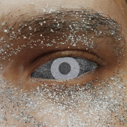 freetoedit eye glitter silver
