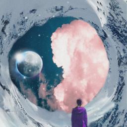 freetoedit snow cloud moon noiseeffect