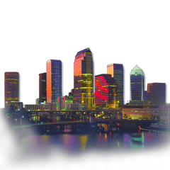 ftestickers city skyline citylights waterview