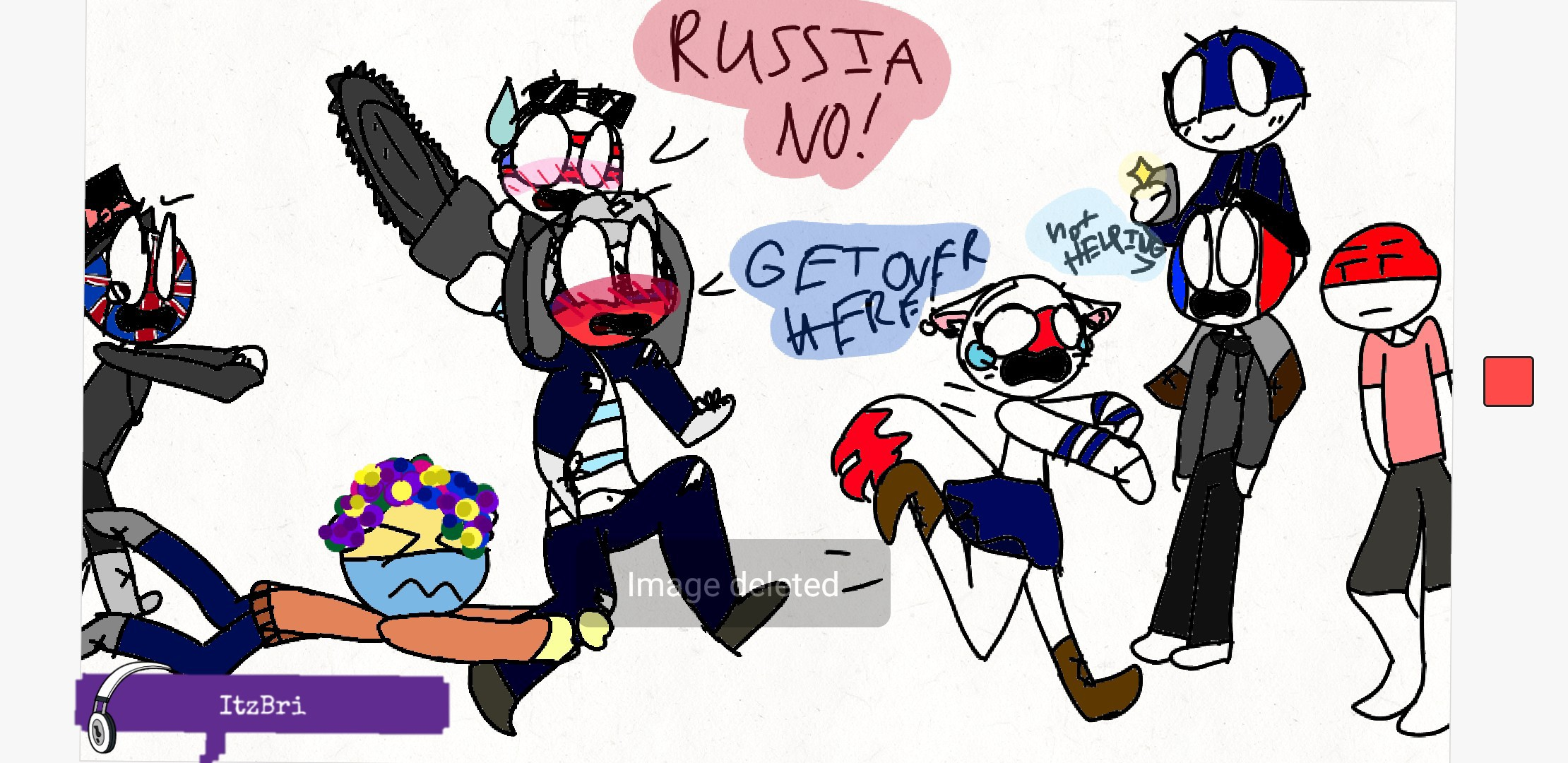 freetoedit CountryHumans America x Russia Funny tried...
