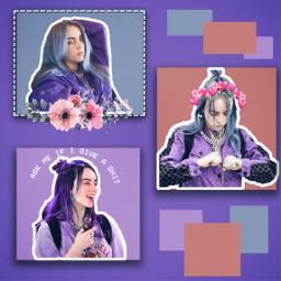 freetoedit billieeilish billie eilish purple